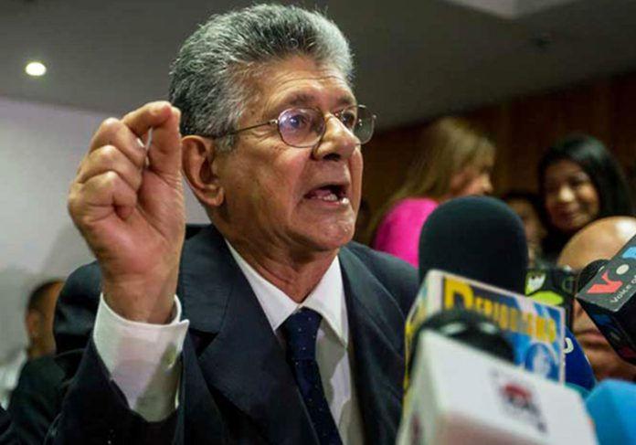 Ramos Allup: MUD continuará con las manifestaciones pacíficas